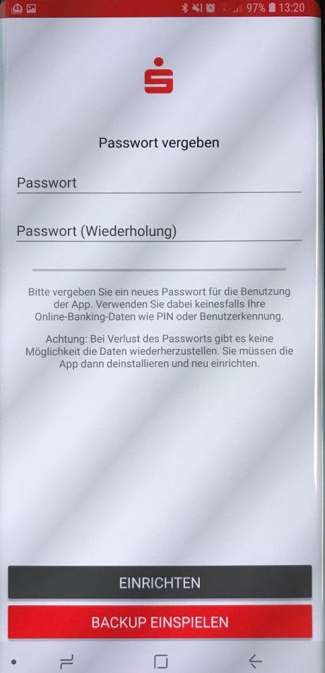 Android: Anleitung Einrichtung Sparkassen-App