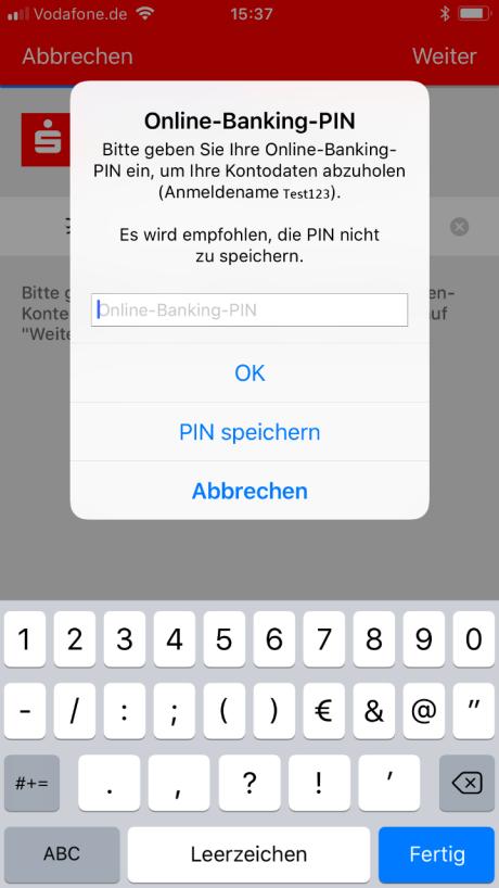 Android Anleitung Einrichtung Sparkassen App English